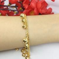 Perhiasan India Gelang Tangan Xuping Lapis Emas 18k Gold Rantai