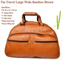 Grosir Tas Travel Kulit Wide Bamboo BROWN