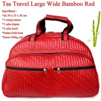Grosir Tas Travel Kulit Wide Bamboo RED