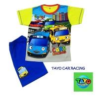 TAYO CAR RACING Baju tidur /Rumah Anak Cowok cln Pendek Anne Claire