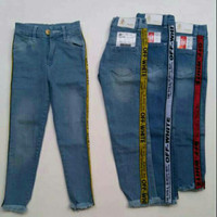 Stretch Jeans Anak Perempuan usia 10-12 tahun Celana Panjang Kekinian