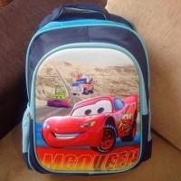 Tas Sekolah Anak Ransel Import TK SD 3D Hard Cover Cars