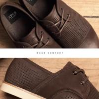 Harga original xper men casual shoes lace up men sepatu pria coklat   antitipu.com