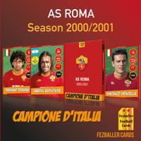 Kartu Bola Fezballer Cards AS ROMA Campione D Italia Season 2000 2001
