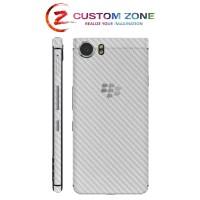 Harga customzone bb keyone 3m skin garskin white carbon back side | Pembandingharga.com