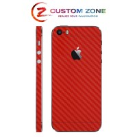[CUSTOMZONE] iPhone 5s / SE 3M Skin / Garskin - Red Carbon (Back-Side)