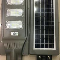 lampu jalan led pju solar cell tenaga surya all in one 90w 90 watt