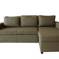 Sofa Lathan L Shape Fabric Brown