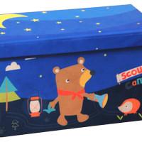 Kotak Penyimpanan Scouts Camp Cartoon Foldable Storage Stool