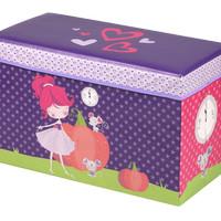 Kotak Penyimpanan Princess Cartoon Foldable Storage Stool