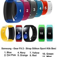 Samsung Gear Fit 2 - Silicone Sport Strap Klik Besi Tali Jam Silikon