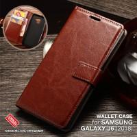 Wallet Flip Case Samsung J6 2018 Leather Flipcase Soft Cover Flipcover