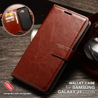Waller Flip Case Samsung J4 2018 Flipcase Soft Cover Flipcover Casing