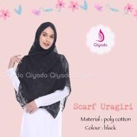 Qiyada Scarf Uragiri Black - hijab kerudung khimar jilbab syari hijab