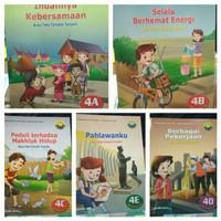 SATUAN Buku SD Teks Tematik Terpadu Kelas 4 A B C D E Yudhistira