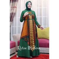 MBM GAMIS BATIK SINARAN SET HIJAU [DRESS ONLY] BY RATOE MODERN