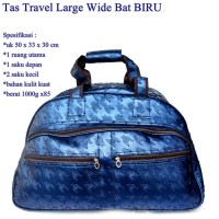Tas Travel Kulit Wide BAT NAVY