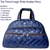 Tas Travel Kulit Wide GRANDIS NAVY