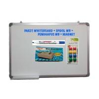 PAKET Whiteboard Magnetic 60x90 + Spidol WB + Penghapus WB + Magnet