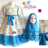 dress gamis anak labella 3-4th tosca 23