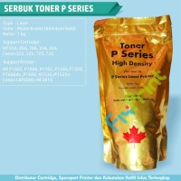Serbuk Toner P Series Gold, Printer HP P1005 P1006 P1102 M1522nf