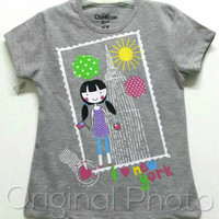 Baju kaos karakter anak perempuan oshkosh 1-6
