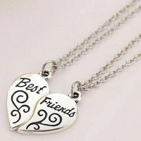 Kalung Couple Persahabatan Best Friends Perak Women Necklace Fashion