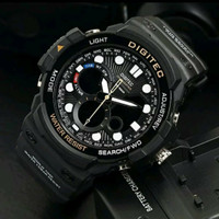 Jam Tangan Pria Digitec Dualtime 100% Original Black Gold White