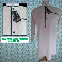 Jual Baju koko pakistan putih   gamis pria   qurta   baju taqwa Murah