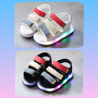 Sz 21-30 Sepatu Sandal Led Anak Model Rainbow