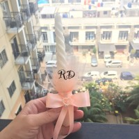 Candle Decoration for sweetseventeen ( 17th ) #peach