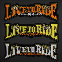 Live to Ride Patch Bordir Jacket Biker Motorcycle Harley Davidson