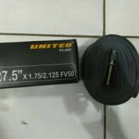 Ban dalam sepeda ukuran 27.5 x 1.75 / 2.125 pentil presta 50mm united