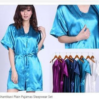 Daster/Piyama/Baju Tidur [EBL SW Satin Kimono Polos]
