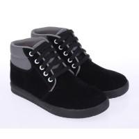 Sepatu Sekolah Anak Laki Perempuan Sneakers Kets Anak SD Hitam Bertali