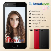 Brandcode L1F [8 GB / 1 GB / 4G Lte / Face Unlock / Garansi Resmi]