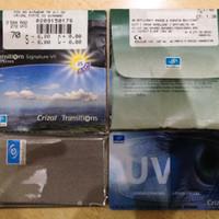 Lensa kacamata minus/Baca Essilor SV Orma 1.5 Transitions Vll Grey