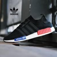 aa1e9b556 Sepatu Adidas NMD R1 Premium Import Full Black Hitam Sport Pria