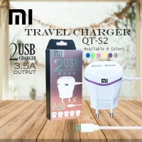 Travel Charger HP Xiaomi oppo vivo 2usb 3.5amper output fast charging