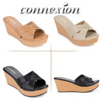 connexion sandal sepatu wedges