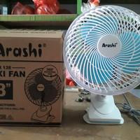 Kipas Angin Jepit Meja Dinding Arashi Flexi Fan Bisa Rotating Berputar