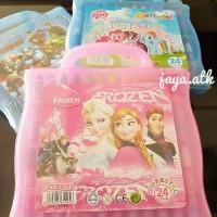 Crayon / Oil Pastel 24 Colour Motif Frozen, Little Pony, Avenger T824