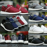 Adidas Slip On size 36 - 40 sepatu wanita olahraga sport sekolah hitam