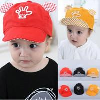 Topi import baseball anak motif tangan hi-five bahan bagus 3 warna CIS
