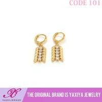 Anting Permata Lapis emas Perhiasan imitasi Gold18k Yaxiya Jewelry 101