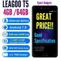 HP LEAGOO T5 4GB/64GB harga OKE 13MP Cam Dual 4G Rival Xiaomi