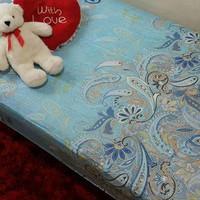 Sprei katun jepang ASLI 120X200X30 Batik Biru