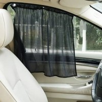 Car Sun Shield Visor - Tirai Gorden Penahan Anti Panas MatahariKaca Depan Dashboard Mobil Model Gulung