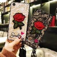 Softcase TPU 3D Fuze Flower Bordir Rose Cover Case Casing HP Vivo Y65
