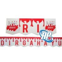 banner DIRGAHAYU RI/ banner HUT RI/ bunting flag 17 AGUSTUS/ flag